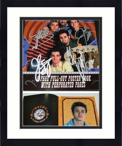Justin Timberlake, JC Chasez, Lance Bass, Joey Fatone, and Chris Kirkpatrick Signed - Autographed NSYNC 11x14 inch Photo Cover - Guaranteed to pass BAS - NO STRINGS ATTACHED Tour Book