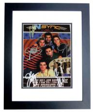 Justin Timberlake, JC Chasez, Lance Bass, Joey Fatone, and Chris Kirkpatrick Signed - Autographed 'Nsync 11x14 inch Photo Cover - NO STRINGS ATTACHED - BLACK CUSTOM FRAME - Guaranteed to pass PSA or JSA