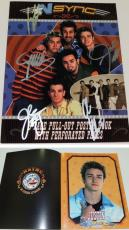 Justin Timberlake, JC Chasez, Lance Bass, Joey Fatone, and Chris Kirkpatrick Signed - Autographed 'NSync 11x14 inch Photo Cover - Guaranteed to pass PSA or JSA - NO STRINGS ATTACHED Tour Book
