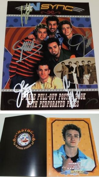 NSYNC Group Signed - Autographed NO STRINGS ATTACHED Tour Book by Justin Timberlake, JC Chasez, Lance Bass, Joey Fatone, and Chris Kirkpatrick - Guaranteed to pass BAS