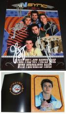 Justin Timberlake, JC Chasez, Lance Bass, Joey Fatone, and Chris Kirkpatrick Signed - Autographed NSYNC 11x14 inch Photo Cover - Guaranteed to pass PSA or JSA - NO STRINGS ATTACHED Tour Book