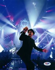 Justin Timberlake Live Concert Dancing Autographed Signed Photo PSA AFTAL UACC