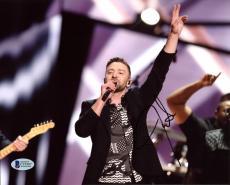 Justin Timberlake Musician & Actor Signed 8X10 Photo BAS #C19307