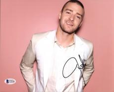 Justin Timberlake Musician & Actor Signed 8X10 Photo BAS #C19308