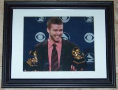 Justin Timberlake NSYNC Signed Autographed Framed 8x10 Photo BAS Beckett LOA!