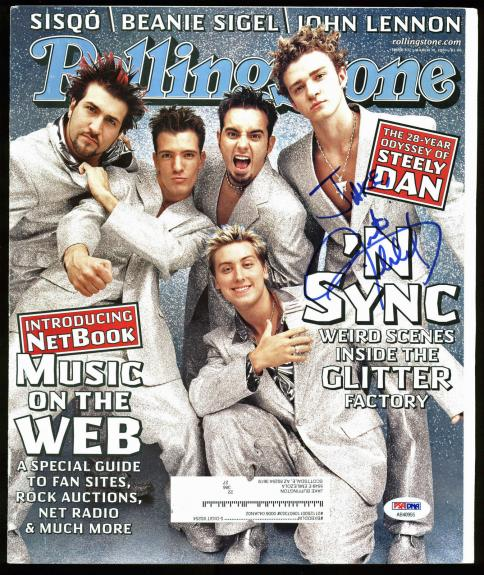 Justin Timberlake N'Sync Signed Rolling Stone Magazine Cover PSA/DNA #AB40955
