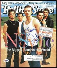Justin Timberlake N'Sync Signed Rolling Stone Magazine Cover PSA/DNA #AB40956