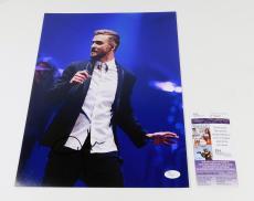 Justin Timberlake Signed 11 x 14 Color Photo JSA Auto