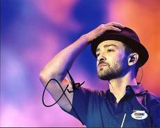Justin Timberlake Signed 8X10 Photo Autographed PSA/DNA #AA83565