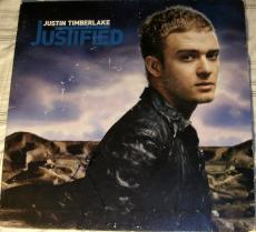 "Justin Timberlake Signed Autograph ""justified"" Album With Original Vinyl Coa Lp"