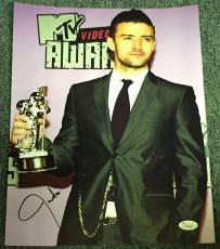 Justin Timberlake Signed Autograph Sexy Suit Awards Stud 11x14 Photo Jsa L74049