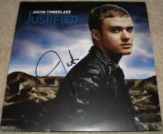 Justin Timberlake Signed   Autographed Justified Album   LP - JSA