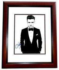 Justin Timberlake Signed - Autographed Singer - Actor 11x14 inch Photo MAHOGANY CUSTOM FRAME - Guaranteed to pass PSA or JSA - NSYNC Lead Singer