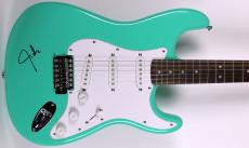 Justin Timberlake Signed Guitar Green Fender Squier Strat BAS #B38579