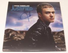 Justin Timberlake Signed Justified Vinyl Album Lp Authentic Autograph Nsync Coa