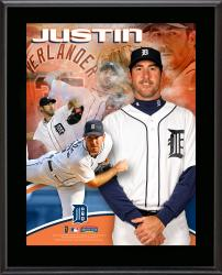Justin Verlander Detroit Tigers Sublimated 10.5'' x 13'' Plaque - Mounted Memories
