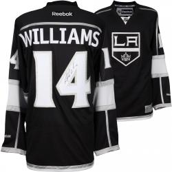 Justin Williams Los Angeles Kings 2014 Stanley Cup Champions Autographed Black Reebok Premier Jersey