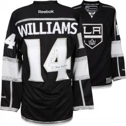 Justin Williams Los Angeles Kings 2014 Stanley Cup Champions Autographed Black Reebok Premier Jersey with SC Champs 2012/2014 Inscription