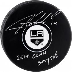 Justin Williams Los Angeles Kings 2014 Stanley Cup Champions Autographed Hockey Puck with 2014 ConnSmythe Inscription