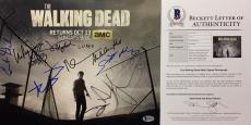 K Kennedy L Donaldson R. Kirkman Lincoln Signed Walking Dead 11x14 Photo Beckett