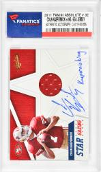 Colin Kaepernick San Francisco 49ers Autographed 2011 Panini #32 Card with Kaepernicking Inscription - Mounted Memories  - Mounted Memories