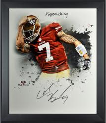 Colin Kaepernick San Francisco 49ers Framed Autographed 20'' x 24'' In Focus Photograph with Kaepernicking Inscription-Limited Edition of 25 - Mounted Memories