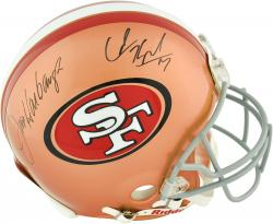 Colin Kaepernick & Jim Harbaugh San Francisco 49ers Dual Autographed Riddell Pro Line Authentic Helmet - Mounted Memories