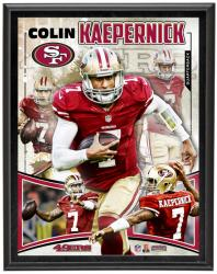 San Francisco 49ers Colin Kaepernick 10.5'' x 13'' Plaque - Mounted Memories