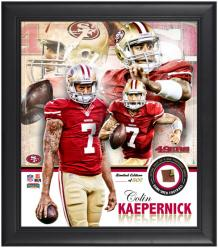 San Francisco 49ers Colin Kaepernick Framed Collage with Football - Mounted Memories