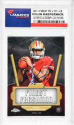 Colin Kaepernick San Francisco 49ers Autographed 2011 Finest #FF-CK Rookie Card  - Mounted Memories