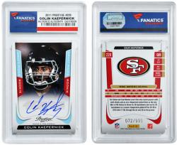 Colin Kaepernick San Francisco 49ers Autographed 2011 Prestige # Dr-Ck Card