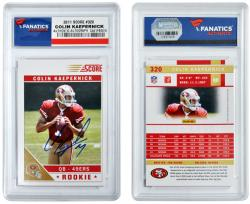 Colin Kaepernick San Francisco 49ers Autographed 2011 Score #320 Card - Mounted Memories