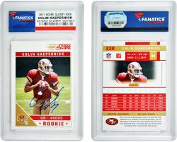 Colin Kaepernick San Francisco 49ers Autographed 2011 Score Glossy #320 Card