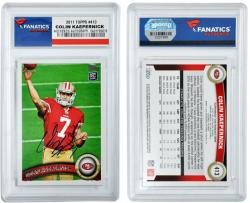 Colin Kaepernick San Francisco 49ers Autographed 2011 Topps #413 Card - Mounted Memories