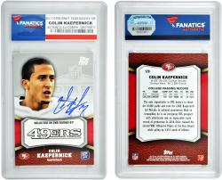 Colin Kaepernick San Francisco 49ers Autographed 2011 Topps Draft Silver #220 Card - Mounted Memories