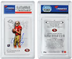 Colin Kaepernick San Francisco 49ers Autographed 2011 Topps Legends #162 Card - Mounted Memories