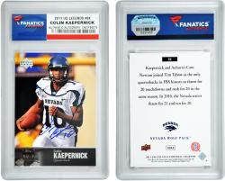 Colin Kaepernick Nevada Wolf Pack Autographed 2011 Upper Deck Legends #84 Card - Mounted Memories