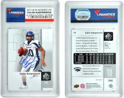 Colin Kaepernick Nevada Wolfpack Autographed 2011 Upper Deck SP Auth #72 Card - Mounted Memories