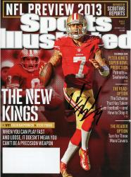 Colin Kaepernick San Francisco 49ers Autographed 2013 NFL Preview Sports Illustrated - Mounted Memories
