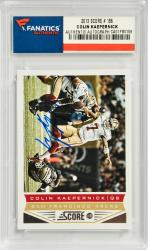 Colin Kaepernick San Francisco 49ers Autographed 2013 Score #186 Card - Mounted Memories