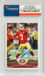 Colin Kaepernick San Francisco 49ers Autographed 2013 Topps #336 Card - Mounted Memories