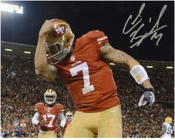 "Colin Kaepernick San Francisco 49ers Autographed 8"" x 10"" Kaepernicking Photograph"