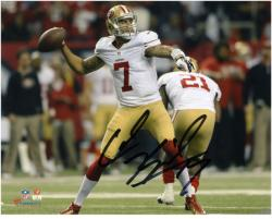 Colin Kaepernick San Francisco 49ers Autographed 8'' x 10'' Throw Photograph - Mounted Memories