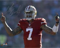 Colin Kaepernick San Francisco 49ers Autographed 16'' x 20'' Fingers Photograph - Mounted Memories