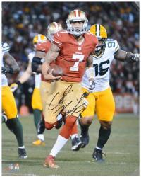 "Colin Kaepernick San Francisco 49ers Autographed 16"" x 20"" Black Signature Photograph"