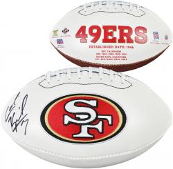 Colin Kaepernick Autographed Ball - White Panel Mounted Memories