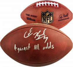Colin Kaepernick San Francisco 49ers Autographed Pro Football with Against All Odds Inscription - Mounted Memories