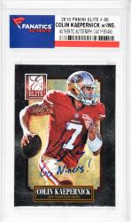 Colin Kaepernick San Francisco 49ers Autographed 2013 Panini Elite #85 Card with Go Niners! Inscription - Mounted Memories  - Mounted Memories