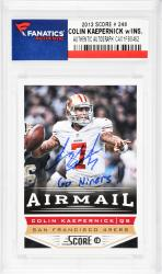 Colin Kaepernick San Francisco 49ers Autographed 2013 Score #248 Card with Go Niners! Inscription - Mounted Memories  - Mounted Memories