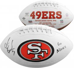 Colin Kaepernick San Francisco 49ers Autographed White Panel Football with Go Niners Inscription